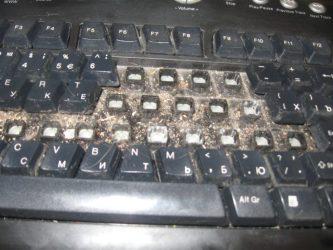 Как почистить мембранную клавиатуру?